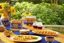 Mediterranean Mezze / Mediterranean mezzes make for the perfect late summer celebration with family and friends. The combination of small plates and dips lends itself to a relaxed, friendly environment for your event.  / by Pfaltzgraff