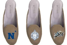 United States Naval Academy Shoes / US Navy logo shoes for men and women. / by JP Crickets University and Collection Loafers jpcrickets