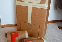 Cardboard box dramatic play / by Mallory Valade