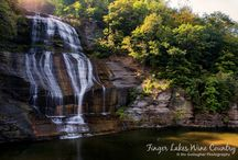 Waterfalls {Finger Lakes Wine Country} / Dozens of spectacular waterfalls are scattered throughout Finger Lakes Wine Country. From gentle cascades to grand waterfalls, many are easily accessible.  / by Finger Lakes WineCountry