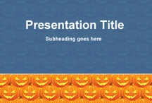 Halloween PowerPoint Template / Free Halloween PowerPoint templates and backgrounds with spooky and mysterious designs for Microsoft PowerPoint 2010 and 2013 presentations on Halloween including Pumpkin, Witches, Broomstick, Bat, Monsters and other nice Halloween ideas for presentations #powerpoint / by Free PowerPoint Templates