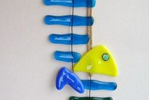 glass art / Fused fish  / by Toni Schulte