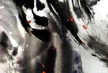 SHODO & Oriental Art / Zen/Caligraphy/Sumi E ink/Watecolor/Chinese & Japanese / by Grace Zales