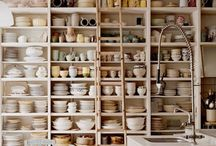 cabinets and shelving / by Cathie Hong