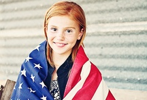 Red White Blue / Stars and stripes. It's flag day every day at Young America. Made in USA. / by Young America