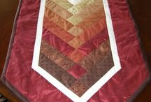 quilted table runners / by Kara Overman
