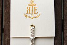 c + d / charcoal suits, lace, sailor knot, white florals, gold, elegant, fun / by Sarah Tucker