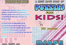 Puzzles for Kids / Puzzles and puzzle books for KIDS!  Including word searches for kids, sudoku for kids, hidoku for kids, griddlers for kids, calcudoku for kids and more! / by Djape