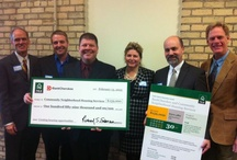 """People Holding Really Big Checks / Nothing says """"We got funding!"""" like a really big check. / by Community NHS"""