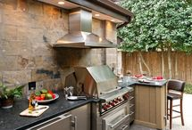 Outdoor kitchen  / by Shelli Runnels Randall