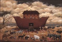 Noah's Ark / There's just something about the Noah's Ark story and its images - it takes me back to that place of the wonder and innocence of childhood every time. / by Lisa Negri