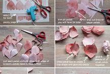 Making cloth & paper flowers / by Regina Seibel