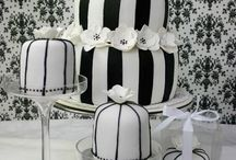 Cakes: Black Wedding / NOT my work. Just gorgeous cakes I love. / by Sheena House