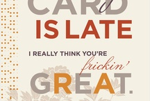Cards / by Madison Emma
