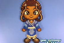 Perler, Hama, Patterns / Designs that can be made easily, that have great character / by Collette Smith
