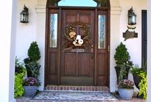 Front door decorations / by Deb Lauer