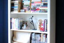 bookcase styling / by Lavender Rose Cottagey