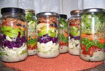 Salad in a jar / by Nicki Prevost