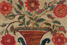 Samplers and rugs I just love! / by Suzanne Groover