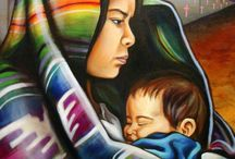 Paintings of women and children / by Penny Valadez