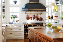 Culinary Art / Ideally, the perfect kitchen would have - a good balance between modern and rustic, with a pinch of chic and enough vintage to reflect the history of culinary art. / by carla hall