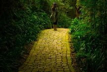 Follow the yellow brick road in Oz / Real yellow brick roads and everything in the land of OZ.   / by Don Hendricks