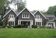 Gray Exterior Homes / I'm painting my house gray soon and gathering ideas for the perfect gray paint!  / by Southern Hospitality Rhoda