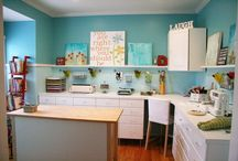 Dream Craft Spaces / Craft space that inspire me. / by Melinda Harris