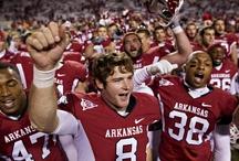 Arkansas Razorbacks / Go crazy! Go crazy! Woooo Pig Sooouie. *GO HOGS!* :) / by Steve Garufi