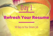 30 Days to Your Dream Job / Sometimes job searching can feel overwhelming. That's why I've started - 30 Days to Your Dream Job: Practical Tips to Find a New Job in a Month - a series that provides 30 practical tips for job seekers to follow.   Interested? Follow my daily tips for the next 30 days, and you could wind up with your dream job in a month's time!  / by Alison Doyle