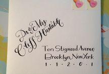 Lettering for envelopes / by Joan Green