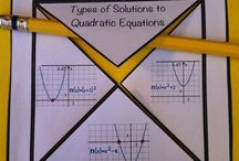 Algebra-quadratics / by Ciara Mcnish