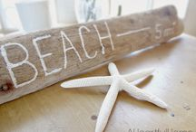 Decorating with Beach Finds / DIY Decorating with whatever you find on the beach. Seashells, seaglass, pebbles, sand, driftwood, flotsam... / by Beach Bliss Living