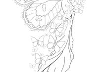 Fairy Coloring Pages / So very cool is the imagination when one things about Fairies. Children as well as adults are memorized by them. If we can't draw them ourselves we at least will enjoy to color them in, luckely other people can draw. / by Carolin Chubinsky
