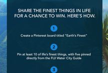 Earth's Finest Pinterest Contest / Win a year supply of FIJI Water! #CONTEST #FIJIWATER / by FIJI Water