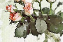drawing and painting flowers / by Victoria Gibbons