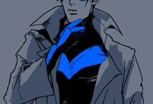 Nightwing / Their may be other of the bat family in here also but mostly Richard John Grayson / by Ticci Toby