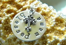 {ss} jewelry / hand stamped jewelry, mommy necklaces / by {simple starfish}