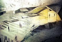 ARCH   DRAWING / SKETCH   ILLUSTRATION   ISOMETRIC   AXONOMETRIC  / by fabricio mora