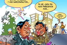 caricaturas / Ejemplos  de referencia / by Luis Alvarado