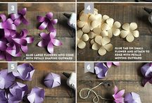 Tropical Flower Lei made from Shimmer Papers / Easy access to papers and instructions for this creative Metallic Paper Lei -- create your own! / by Paper-Papers