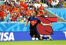 Soccer Football World Cup & International / Awesome soccer & football pics from the world cup, premiere league, and MLS. Superman flying header goal image! / by Birthday Ecards