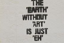 The EARTH W/O ART is EH / by Ashley Harrison