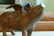 Pigs  / Been collecting pigs for a long time. Lost count of how many I have / by Betty Ward