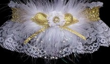 METALLIC Silver or Gold Garter for Wedding Bridal Prom / Glitter - Glam - Gorgeous. Silver or Gold METALLIC band and trim Garters on white black or ivory lace. Silver or Gold Metallic Wedding Garters - Silver or Gold Metallic Bridal Garters - Silver or Gold Metallic Prom Garters - Silver or Gold Metallic Fashion Garters at Custom Accessories Garters LLC - www.garters.com / by garters.com