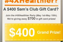#4XHealthier board / I'm part of the #4XHealthier party host team! See my blog post here http://makingtime4you.com/4xhealthier-pinterest-party/ for full details on how to join the party and have a chance to win the $400 Sam's Club Gift Card grand prize, or one of 3 $100 Sam's Club Gift Card Prizes. / by Amanda O'Dair