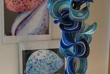 Eye Candy - Crochet / #Crochet, #YarnBombing, #HyperbolicCrochet, #GrannySquares / by Fabric.com