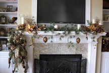 Decorating Mantle with Flat Screen / by Cindy Harms