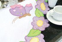 Projetos para experimentar / Sobre Apliques, bordados em pano de copa, pintura em fraldas e bonecas de pano. / by Maria Rosangela Gonçalves