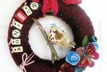 yarn wreaths / by Kristin Seling